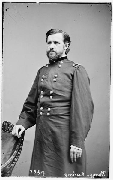 Brigadier General Thomas E. Ewing. Photograph courtesy of the Library of Congress.