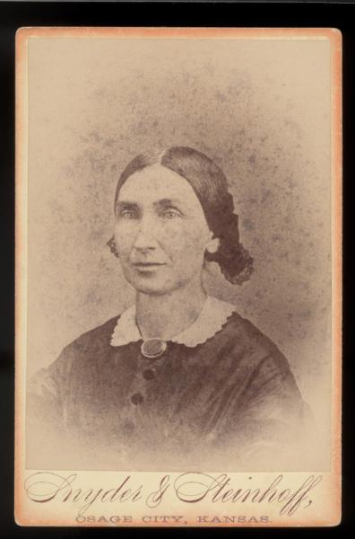 Florella Brown Adair, the half-sister of the famed John Brown, was a courageous abolitionist who moved her family to Kansas Territory and served as a Christian missionary in the midst of violent border warfare. Photograph courtesy of the Kansas Historical Society.