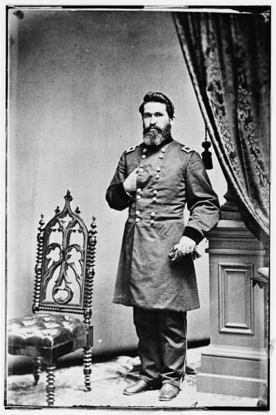 Maj. Gen. James Gillpatrick Blunt led the Union Army to victory over Sterling Price during Price's Missouri Expedition.  Photograph courtesy of the Library of Congress.