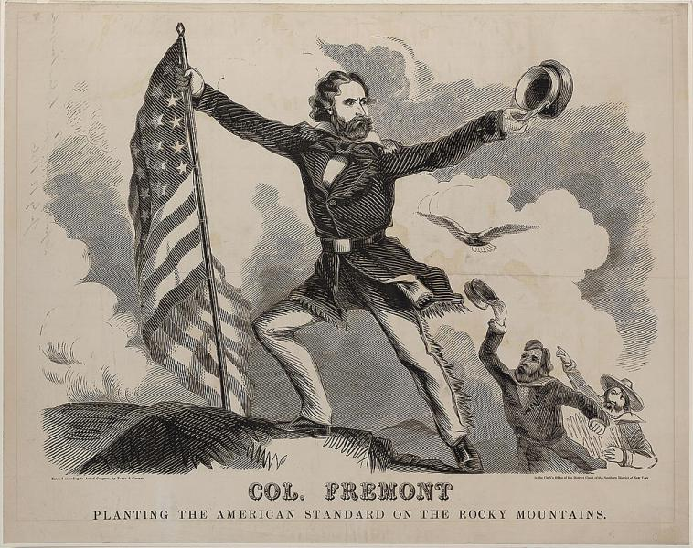An 1856 campaign poster. Courtesy of the Library of Congress.